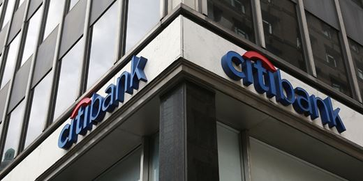 Citibank sign on a street corner