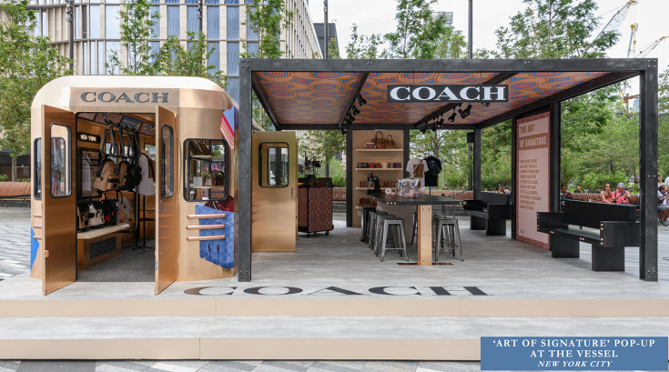 Coach signature pop up at the Vessel in New York City