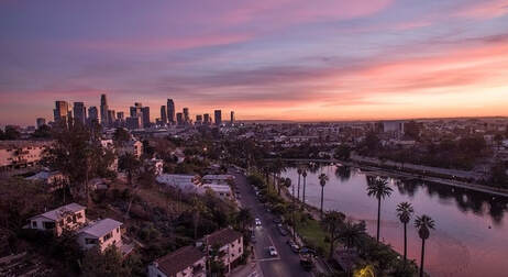 Los Angeles skyline. Image obtained from Goalcost.com