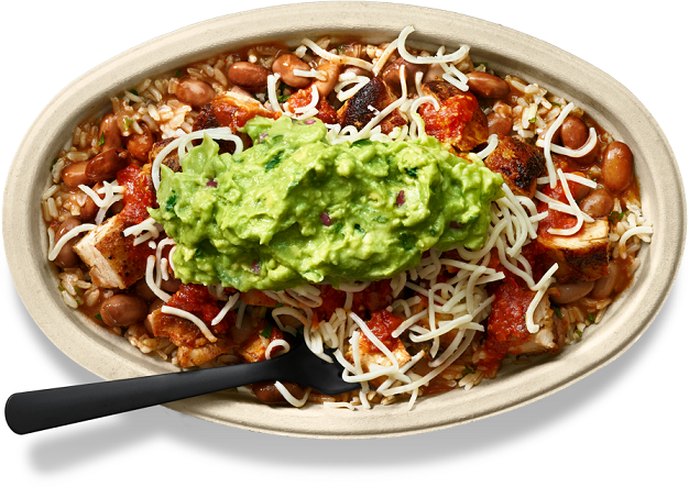 Chipotle for real chicken bowl