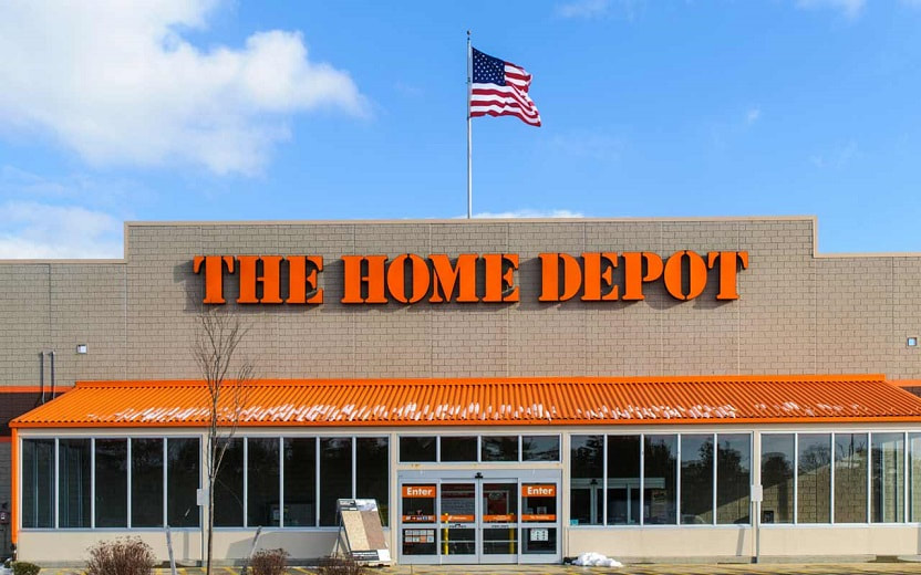 The Home Depot store entrance. Image obtained from Kiplinger.com