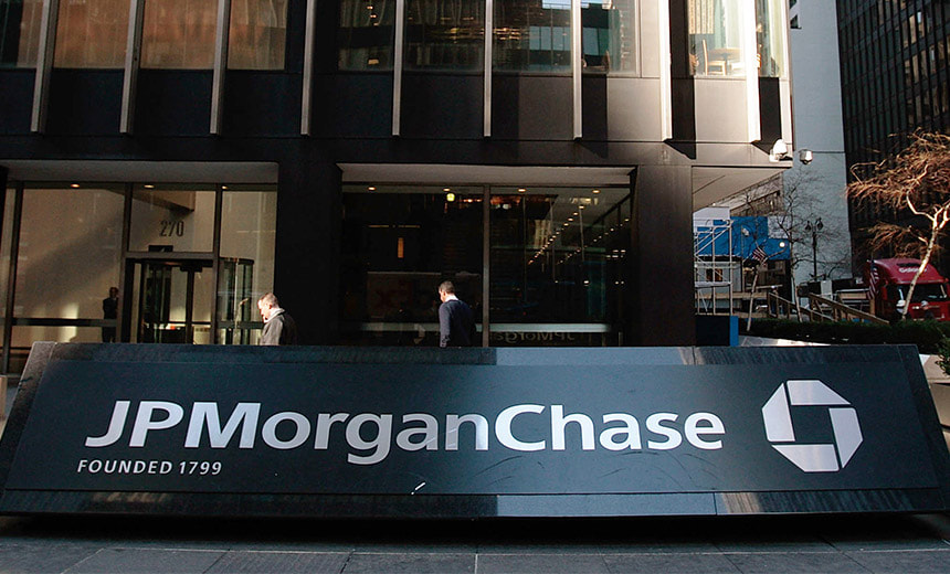 JP Morgan Chase sign outside their head office