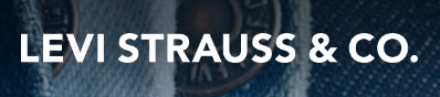 Levi Strauss logo and their latest earnings report.