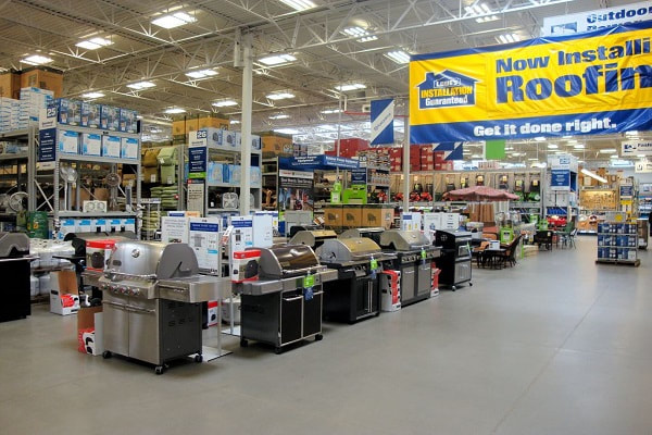 Interior of a Lowe's warehouse