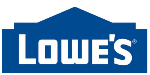 Lowe's logo and 1st quarter 2020 earnings report. The stock is up 6% in pre market trade