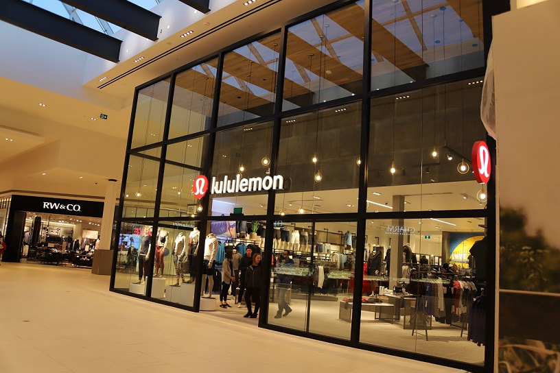 Lululemon store in a mall
