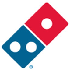 Domino's pizza logo and their latest earnings report.