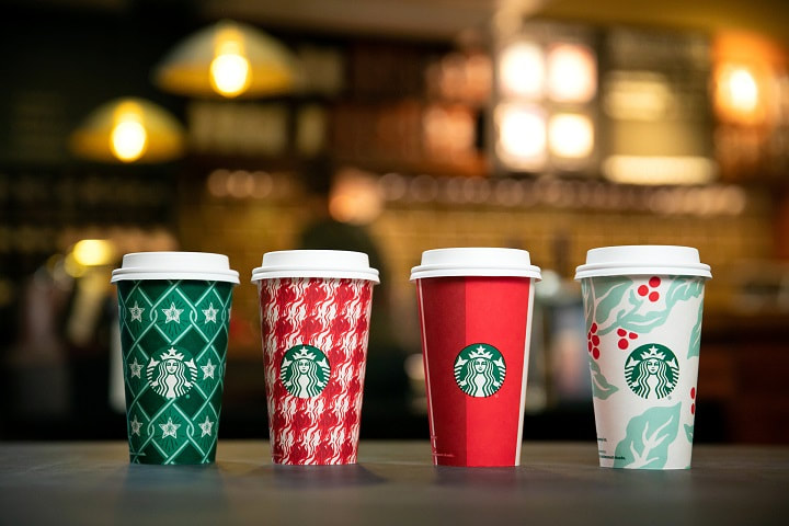 Starbucks holiday collection reusable mugs