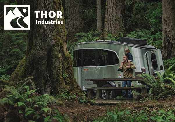 Thor Industries recreational vehicle in the woods