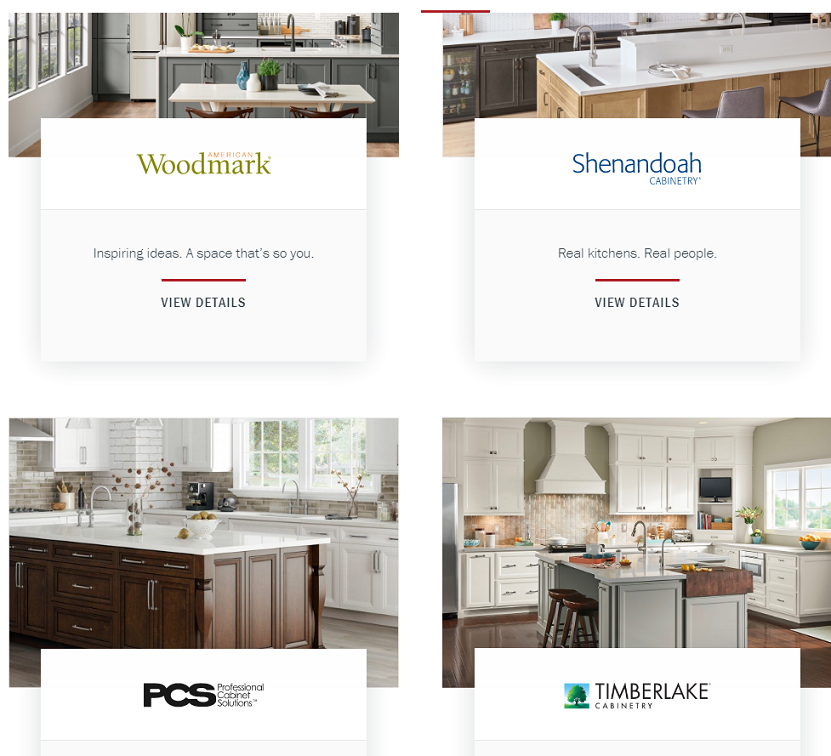 Some of American Woodmark's brands